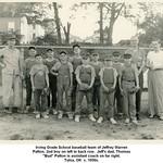 Irving Grade School baseball team of Jeffrey Warren Patton, 2nd boy on left in back row.  Jeff's dad, Thomas